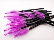 Purple Heart Shape Disposable Mascara Wands Brushes