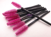 Fuschia Volume Mascara Wands Brushes Disposable