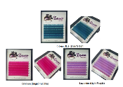 Spring Colors Mini Tray Mix Size Silk Lashes