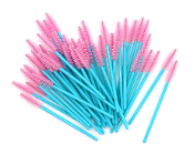 Pink Teal Tower Shape Disposable Mascara Wands Brushes