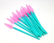 Pink Teal Heart Shape Disposable Mascara Wands Brushes