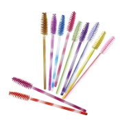 Unicorn Bright Vibrant Colors Disposable Mascara Wand Brushes