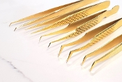 Gold Diamond Precision Isolation Volume Tweezers