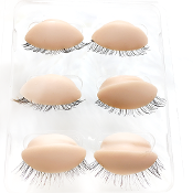 3 Pair Realistic Eyelids With Lashes For Advance Mannequin Head